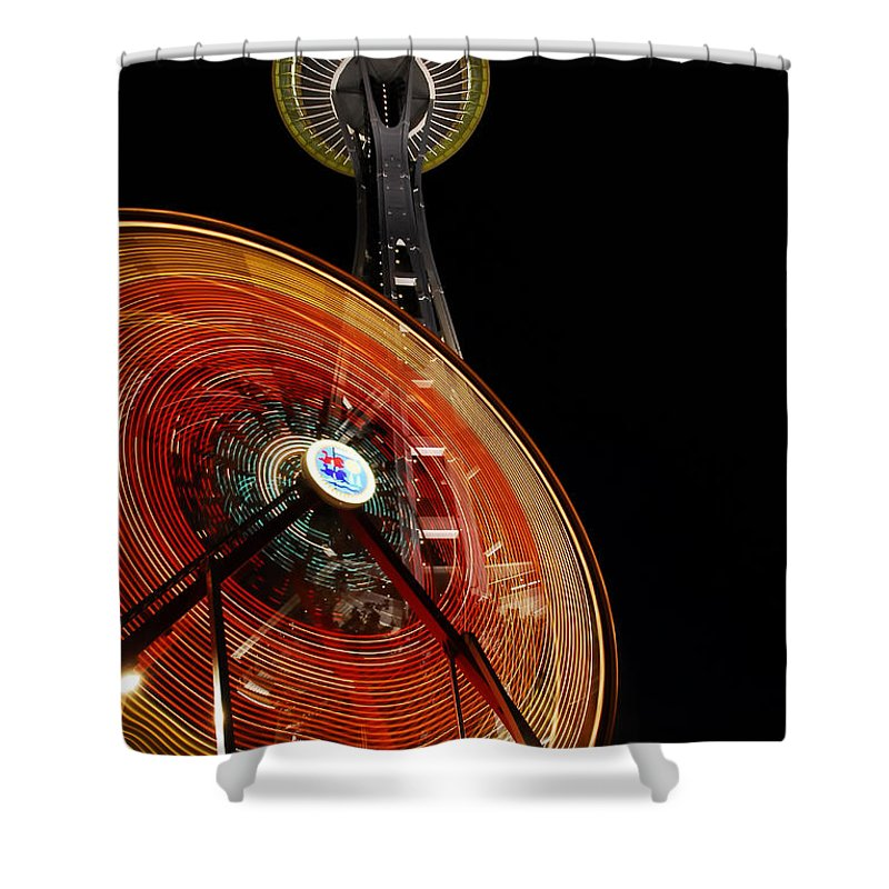 Seattle Shower Curtain featuring the photograph Seattlelights by David Lee Thompson