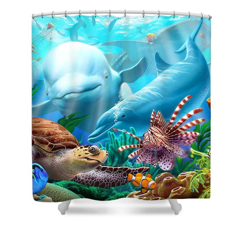 Whale Shark Shower Curtains