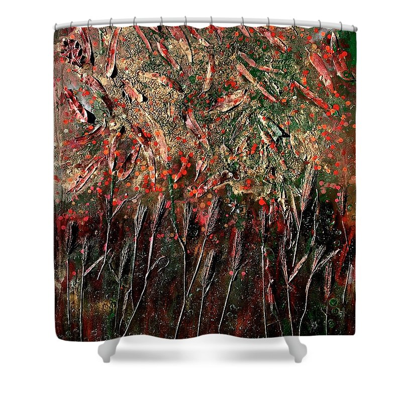 Nature Shower Curtain featuring the painting Secondavera by Roberto Del Fabbro