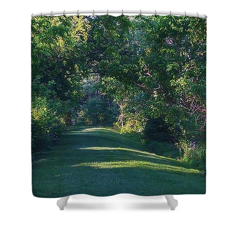 Garden Shower Curtain featuring the photograph Secret Garden by Lawrence Roche