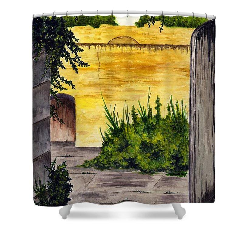 Garden Shower Curtain featuring the painting Secret Garden by Michael Vigliotti