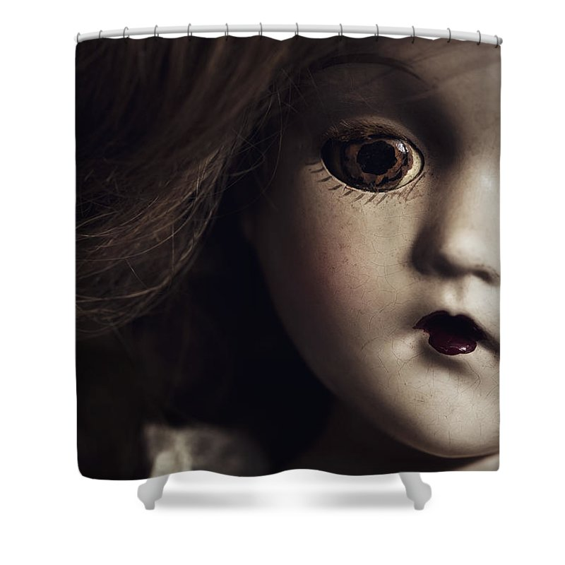 Doll Shower Curtain featuring the photograph Secrets by Amy Weiss