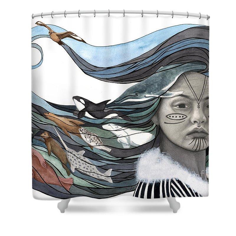 Goddess Shower Curtains