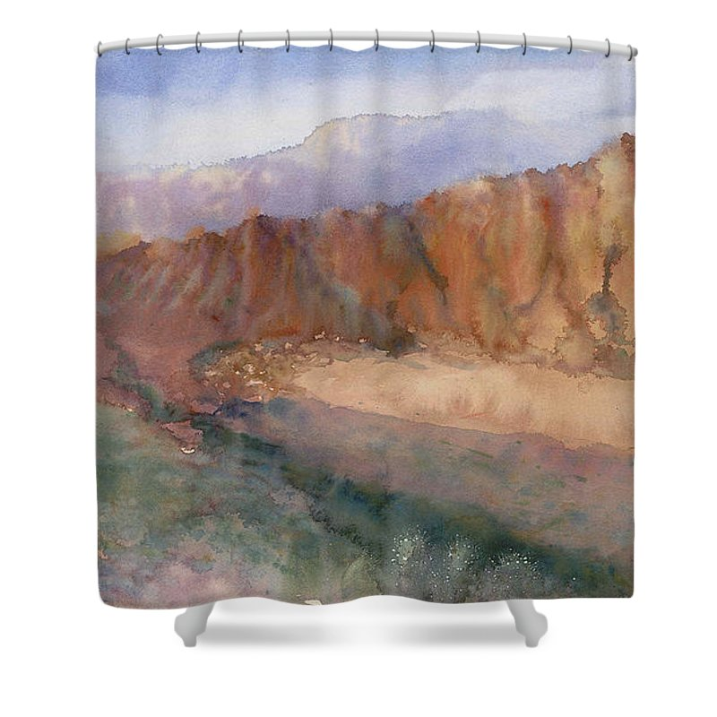 Sedopn Shower Curtain featuring the painting Sedona by Ann Cockerill
