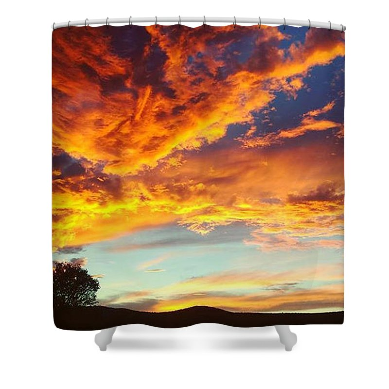 Life Shower Curtain featuring the digital art Sedona by Kristina Gerth