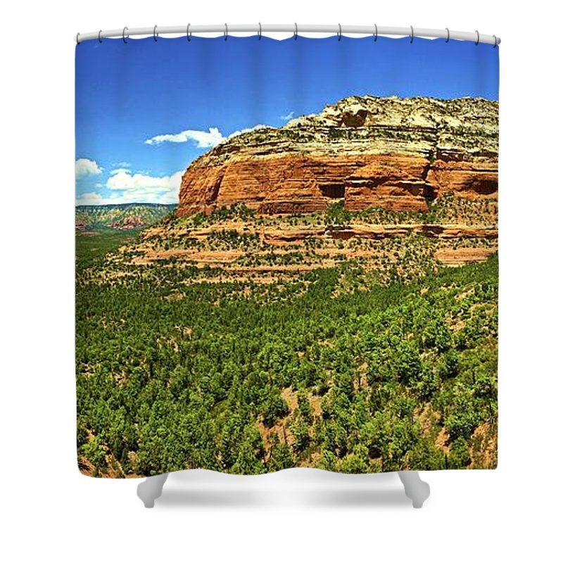 Landscape Shower Curtain featuring the photograph Sedona Landscape by Michael Cappelli