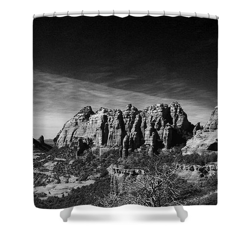 Sedona Shower Curtain featuring the photograph Sedona Reversed by Randy Oberg