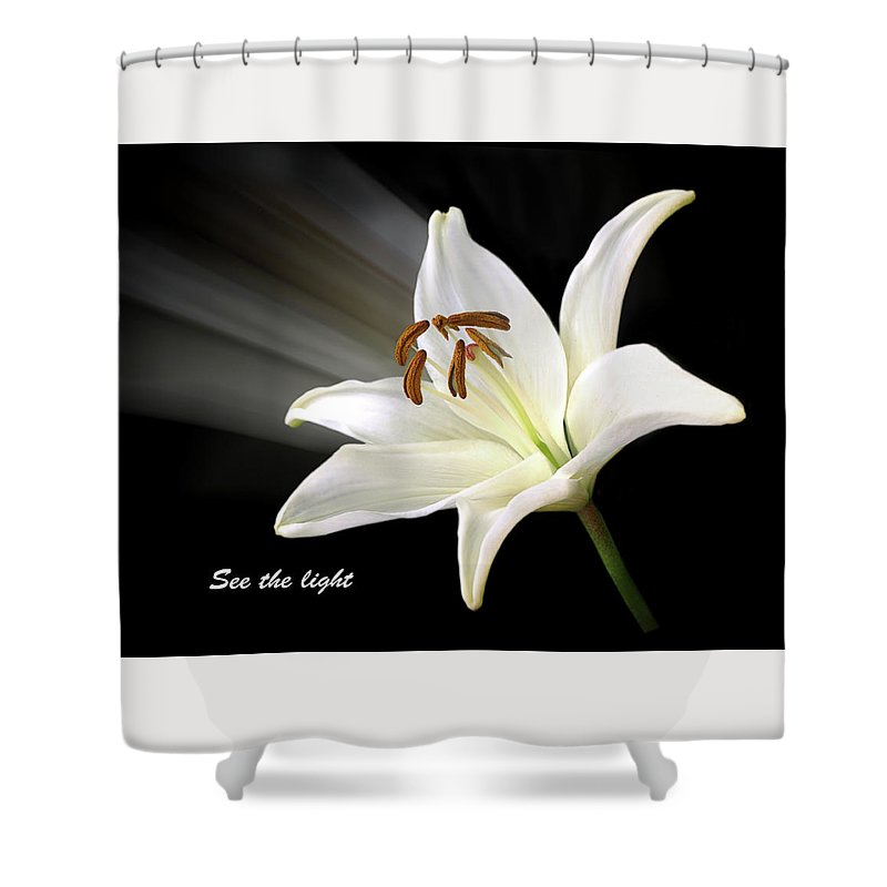 See The Light Shower Curtain featuring the photograph See The Light by Gill Billington