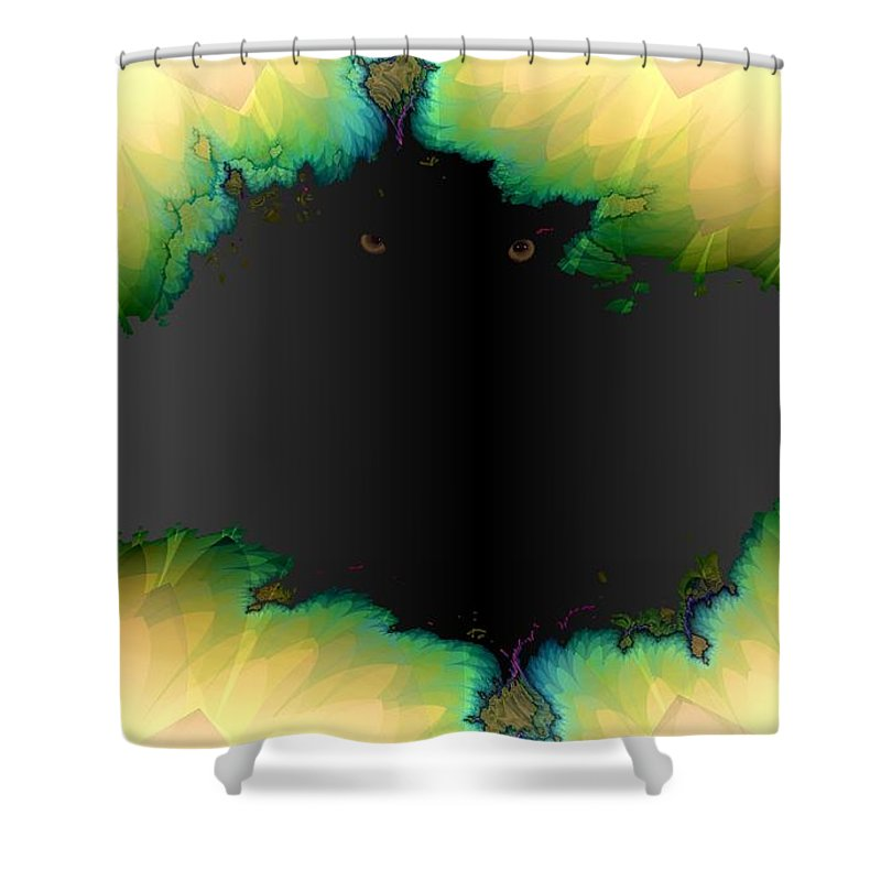 Eyes Shower Curtain featuring the digital art See You by Ron Bissett