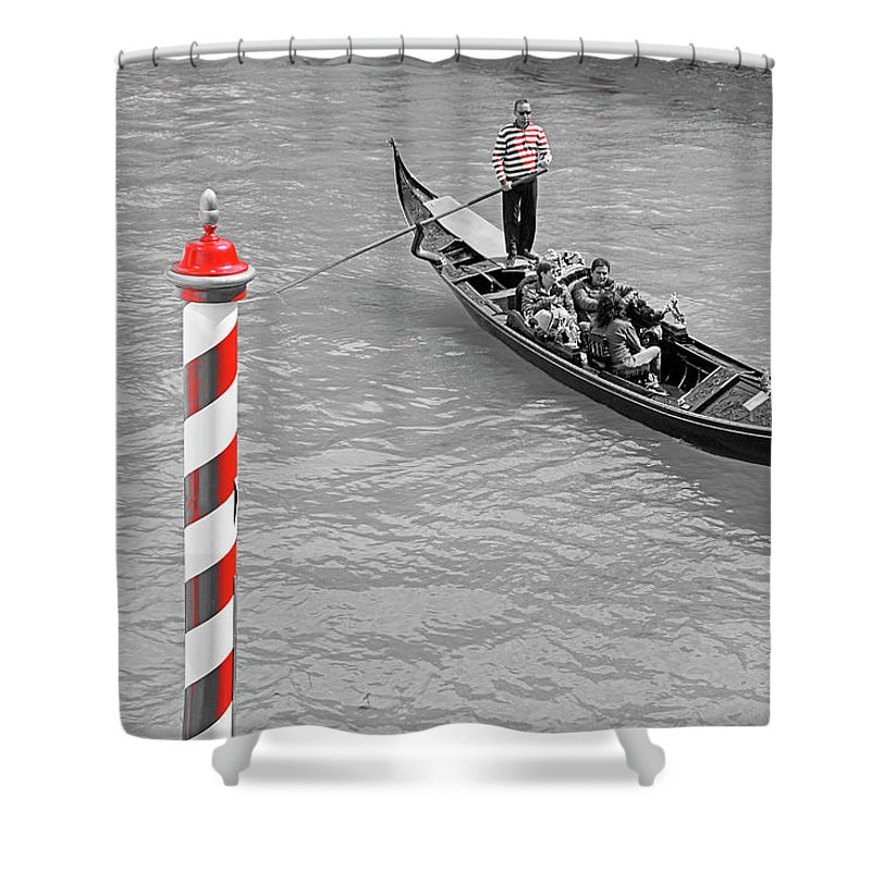 Italy Shower Curtain featuring the photograph Seeing Red Series #5 by Dennis Cox