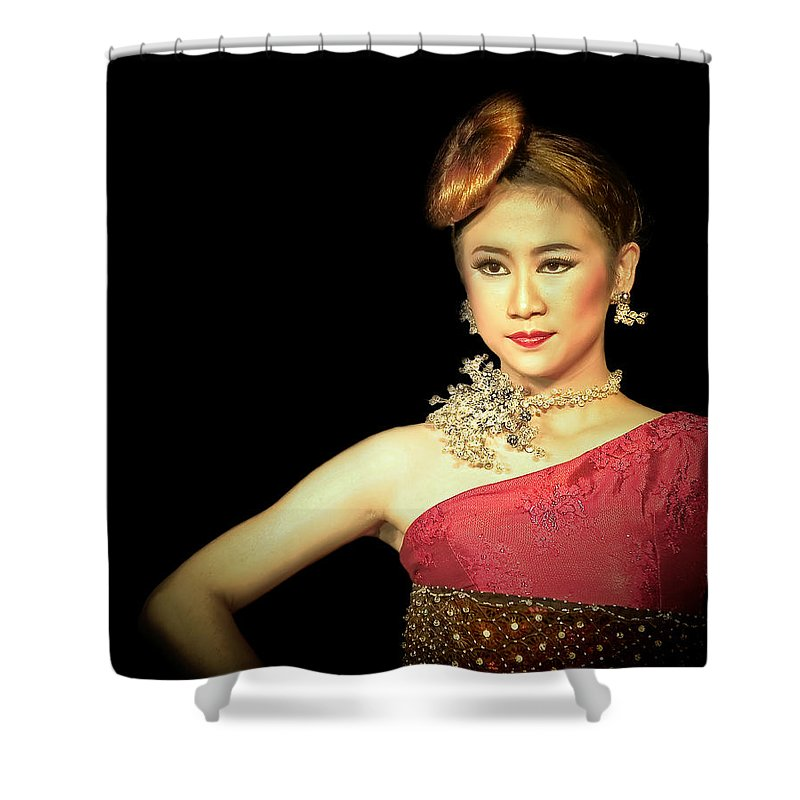Shower Curtain featuring the photograph Self Esteem by Charuhas Images