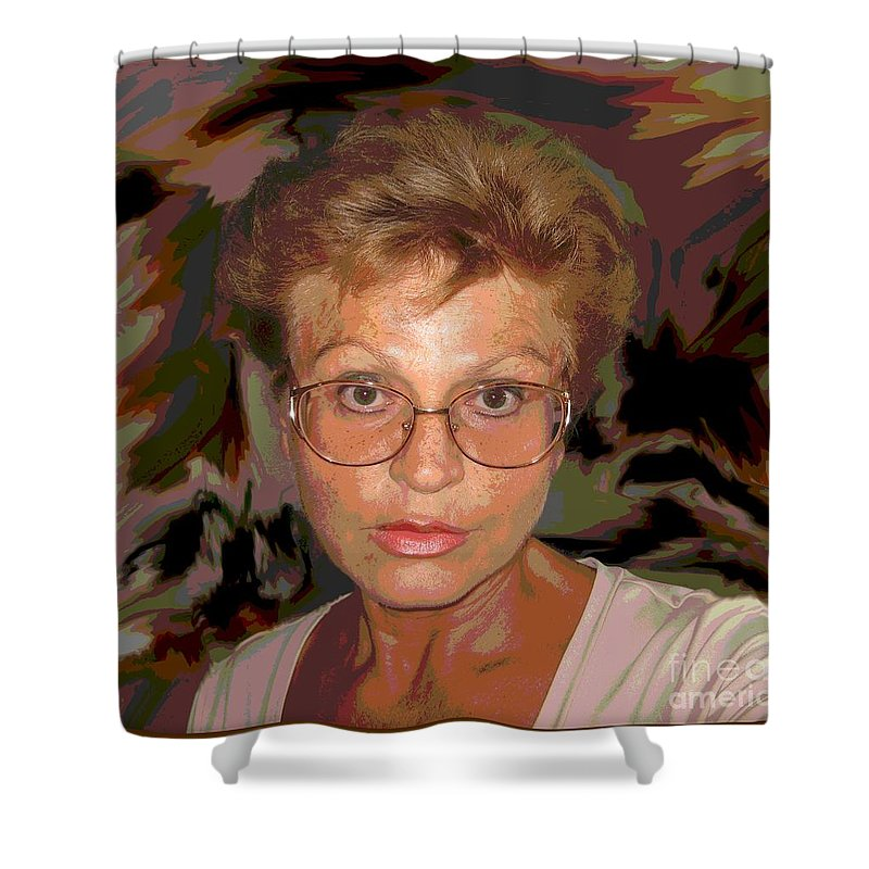 Self Portrait Shower Curtain featuring the photograph self portrait II by Dragica Micki Fortuna
