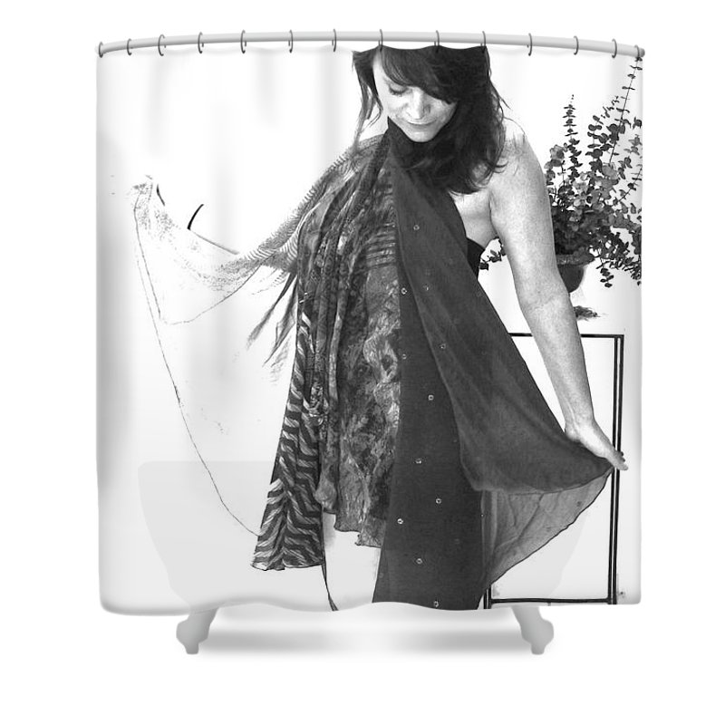 Self Portrait Shower Curtain featuring the photograph Self Portrait by Linda Sannuti
