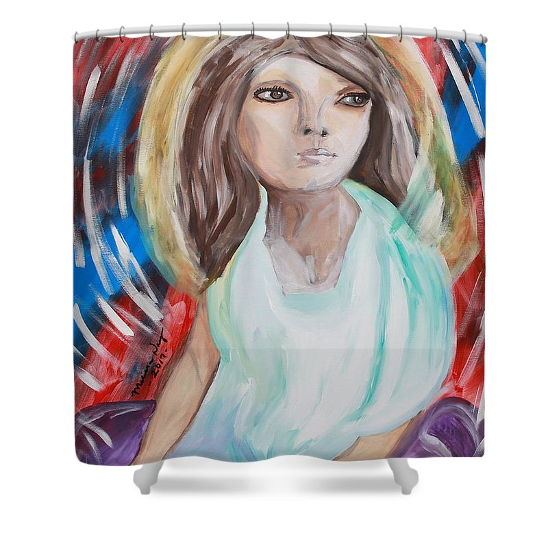 Self Shower Curtain featuring the painting Self Portrait by Melissa Nay