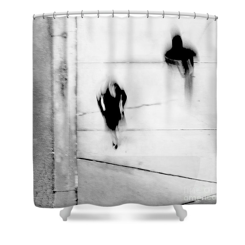 Black Shower Curtain featuring the photograph Self-Protection - If You Look Me In The Eye Will You See Me by Dana DiPasquale