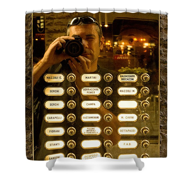 Florence Shower Curtain featuring the photograph Selfie In Florence by Weston Westmoreland