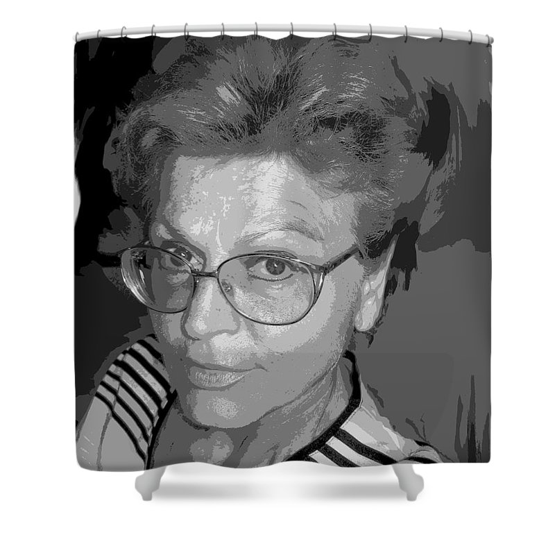 Self Portrait Shower Curtain featuring the photograph selfportrait III by Dragica Micki Fortuna