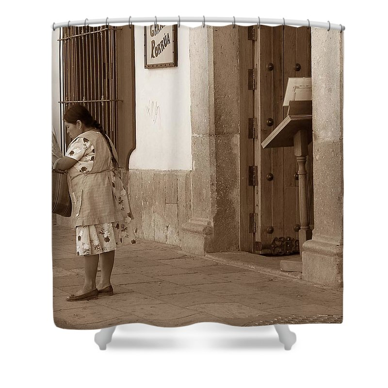 Charity Shower Curtain featuring the photograph Senora by Mary-Lee Sanders
