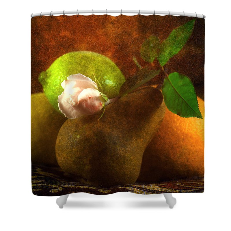 Sensual Shower Curtain featuring the photograph Sensual by Georgiana Romanovna