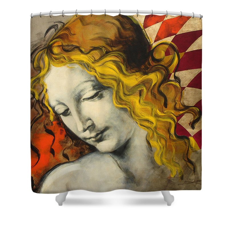 Classical Shower Curtain featuring the painting Sensuali by Jean Pierre Rousselet