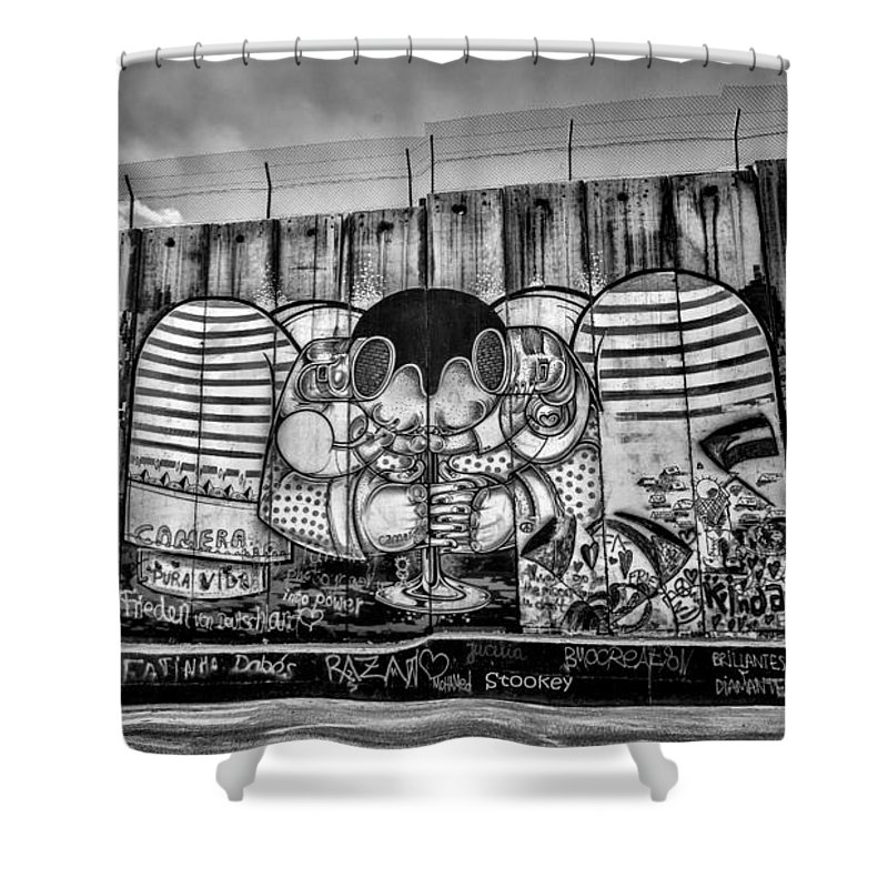 Graffiti Shower Curtain featuring the photograph Separation by Stephen Stookey