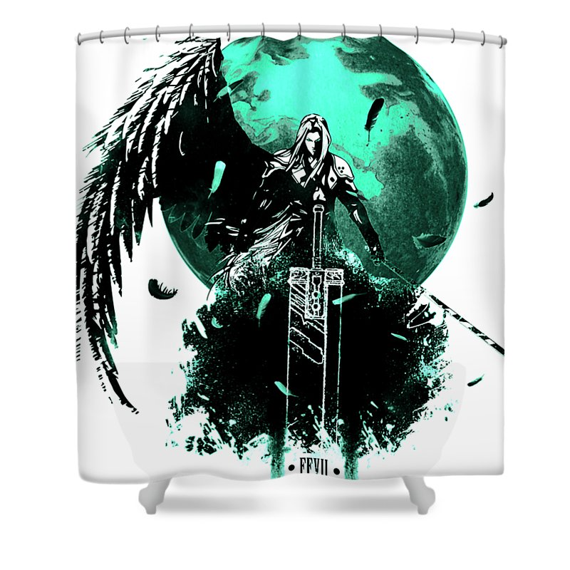 Sephiroth In Cool Mode Shower Curtain For Sale By Kalila Catherina