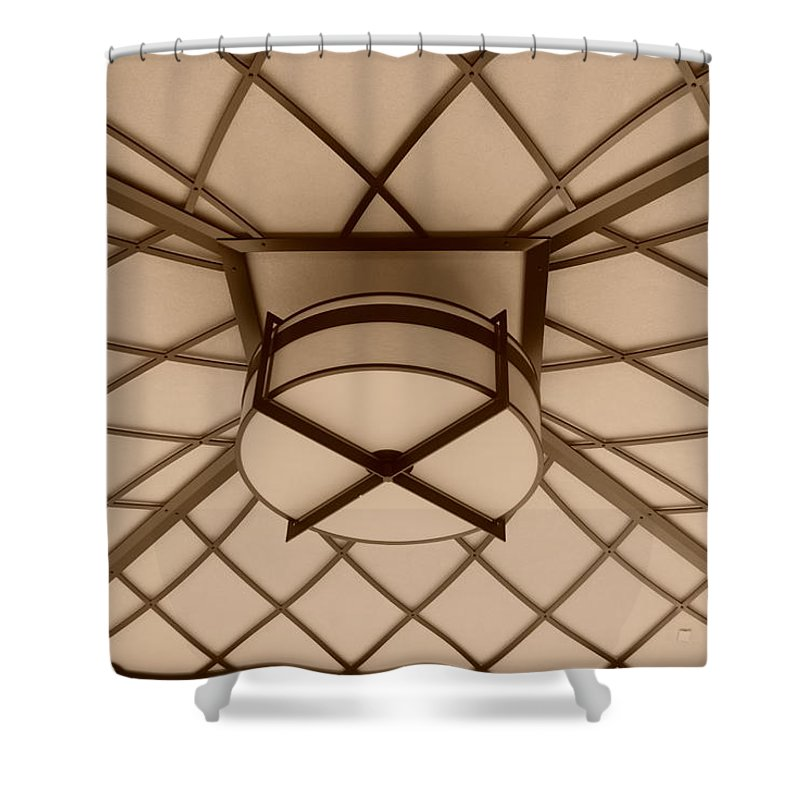 Sepia Shower Curtain featuring the photograph Sepia Lighted Box by Rob Hans