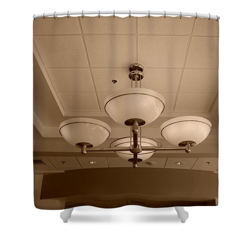 Sepia Shower Curtain featuring the photograph Sepia Lights by Rob Hans