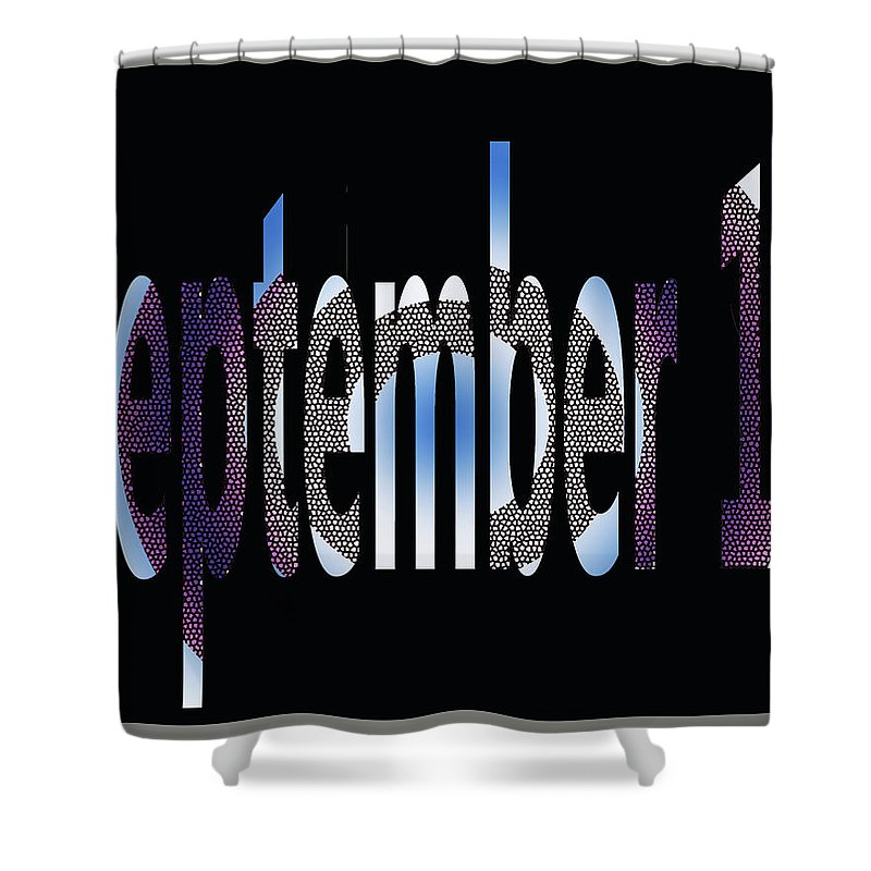 September Shower Curtain featuring the digital art September 18 by Day Williams