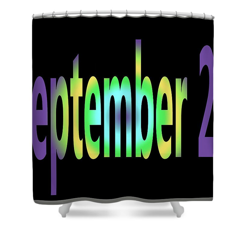 September Shower Curtain featuring the digital art September 27 by Day Williams
