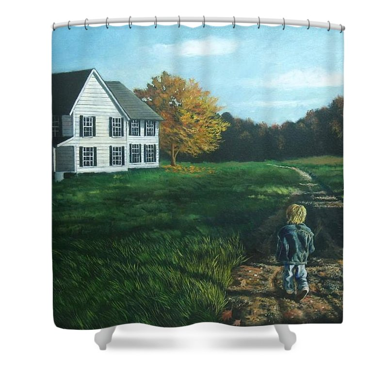Pennsylvania Shower Curtain featuring the painting September Breeze Number 4 by Christopher Shellhammer