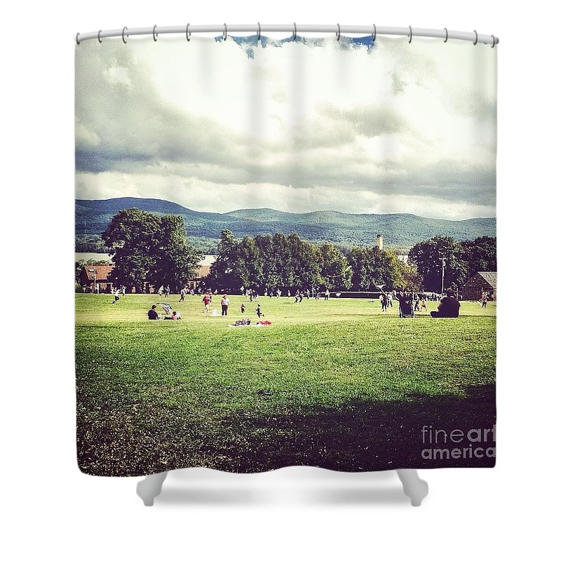 Kites Over The Hudson Shower Curtain featuring the photograph September Day   by Victory Designs