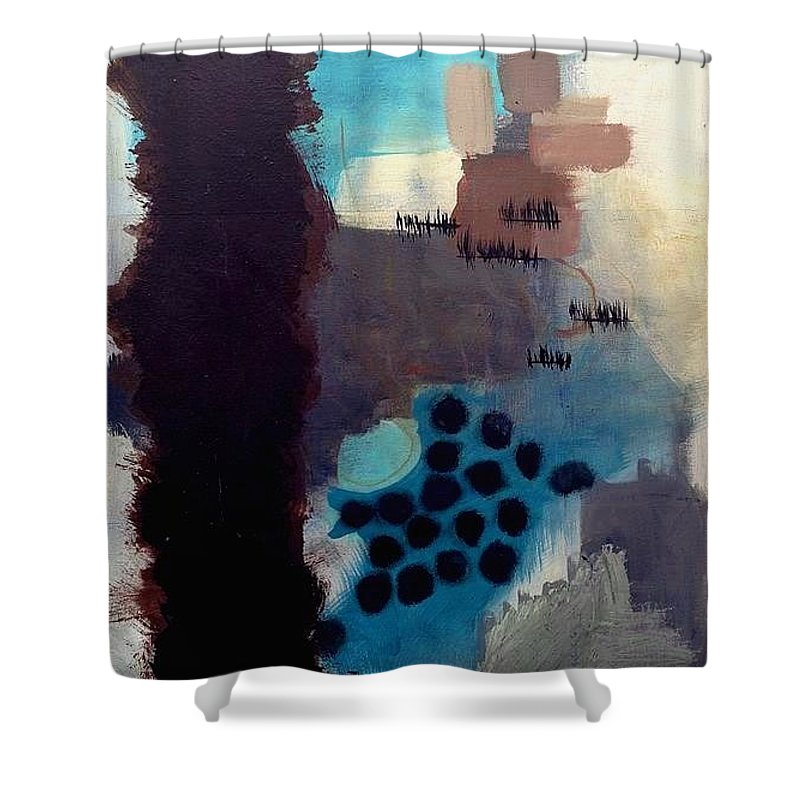 Abstract Shower Curtain featuring the painting Serendipity by Jessa Eiser