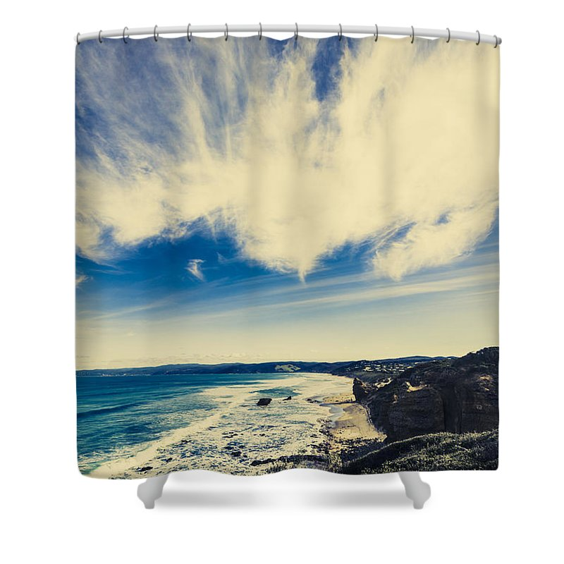 Victoria Shower Curtain featuring the photograph Serene Victoria Coastline by Jorgo Photography - Wall Art Gallery