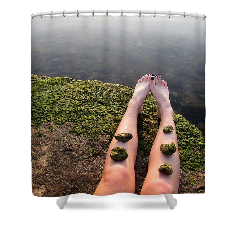 Landscape Shower Curtain featuring the photograph Serenity by Alice Kelsey