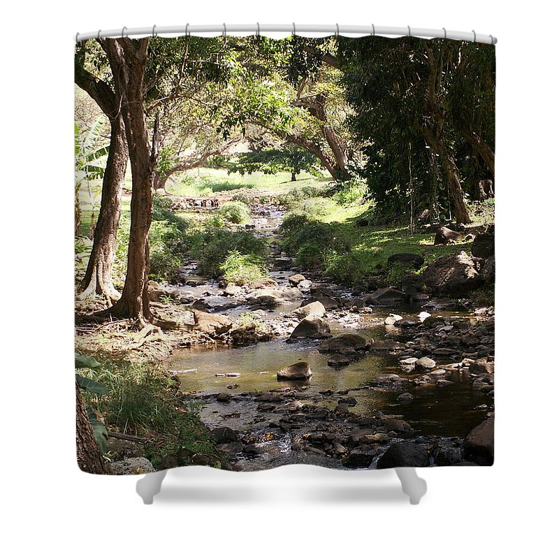 Kauai Shower Curtain featuring the photograph Serenity by Amy Fose