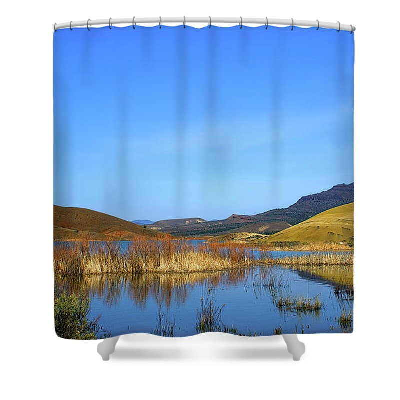 Oregon Shower Curtain featuring the photograph Serenity II by Steve Warnstaff