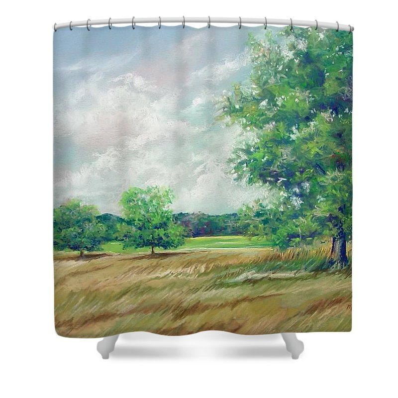 Pastel Shower Curtain featuring the painting Serenity by Marlene Gremillion