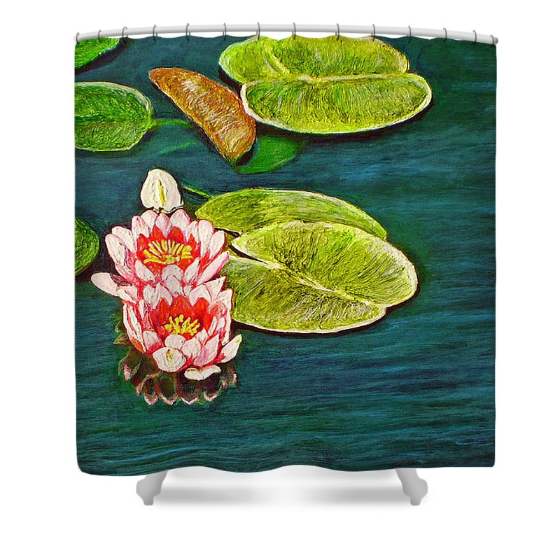 Water Lily Shower Curtain featuring the painting Serenity by Michael Durst