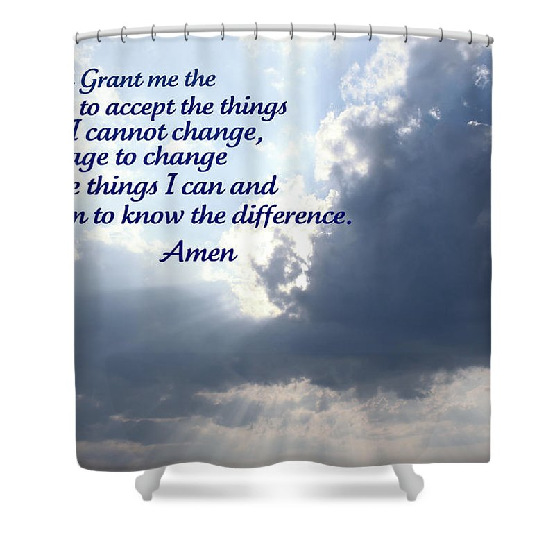 Serenity Shower Curtain featuring the photograph Serenity Prayer by Tina Meador