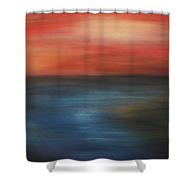 Scenic Shower Curtain featuring the painting Serenity by Todd Hoover