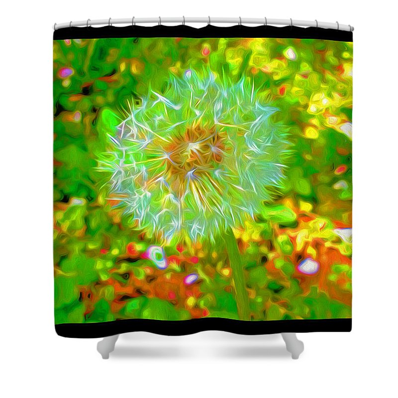 Nature Shower Curtain featuring the mixed media Series Of Spring Time Paintings by Debra Lynch
