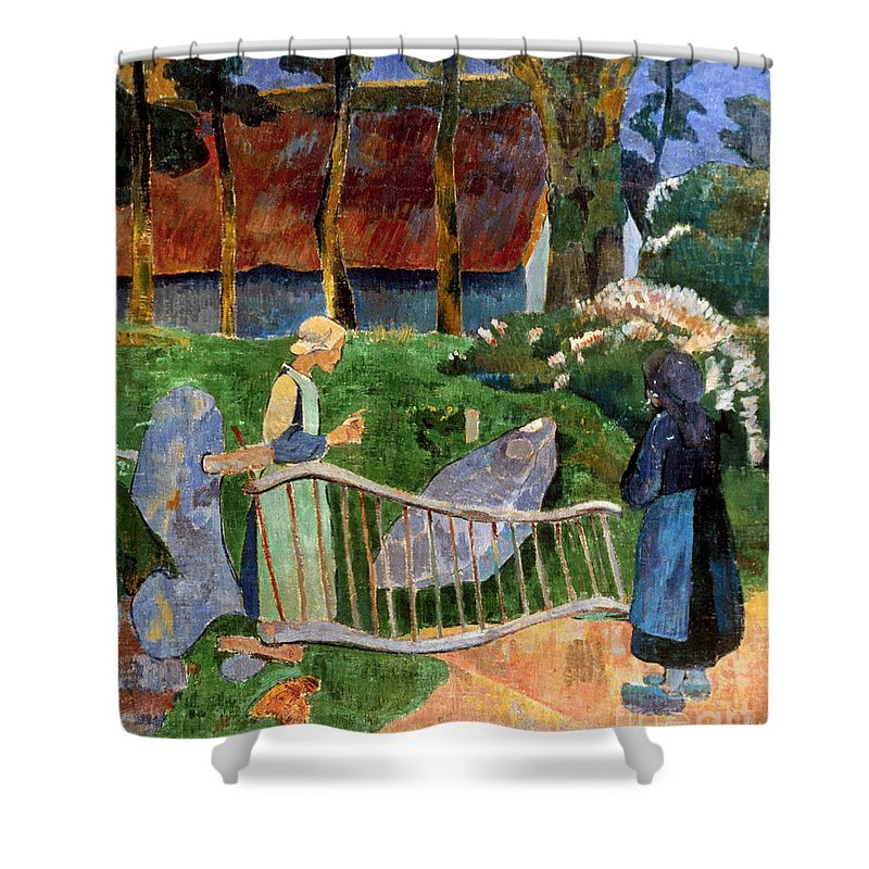 1889 Shower Curtain featuring the photograph Serusier: Barriere, 1889 by Granger