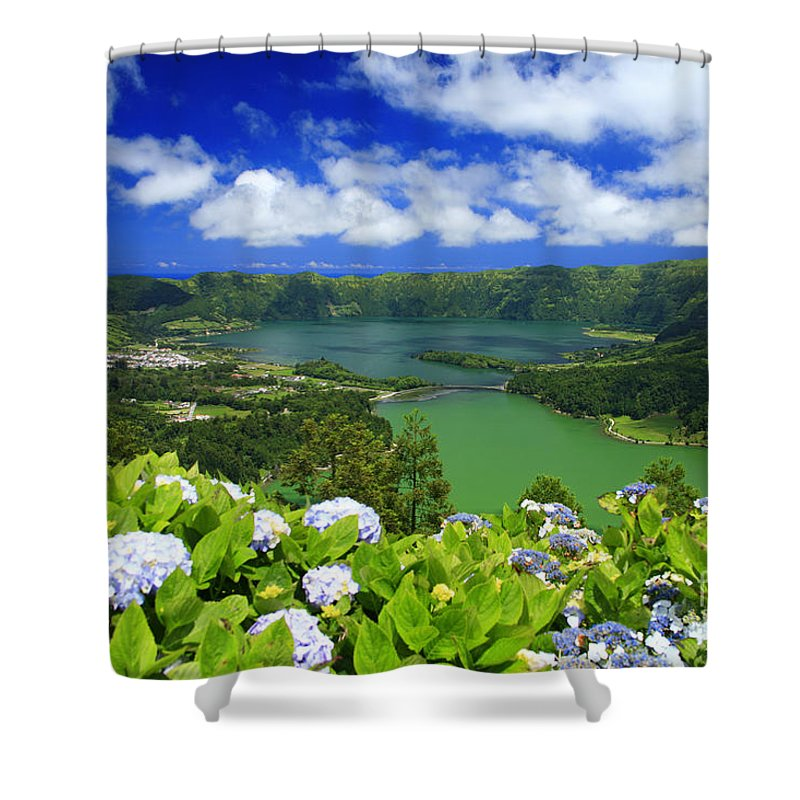 Sete Cidades Shower Curtain featuring the photograph Sete Cidades Crater by Gaspar Avila