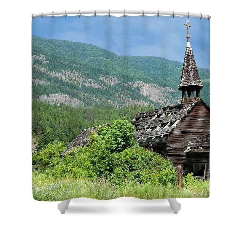 Beautiful Bc Shower Curtain featuring the photograph Seton Portage Church 2 by Rod Wiens