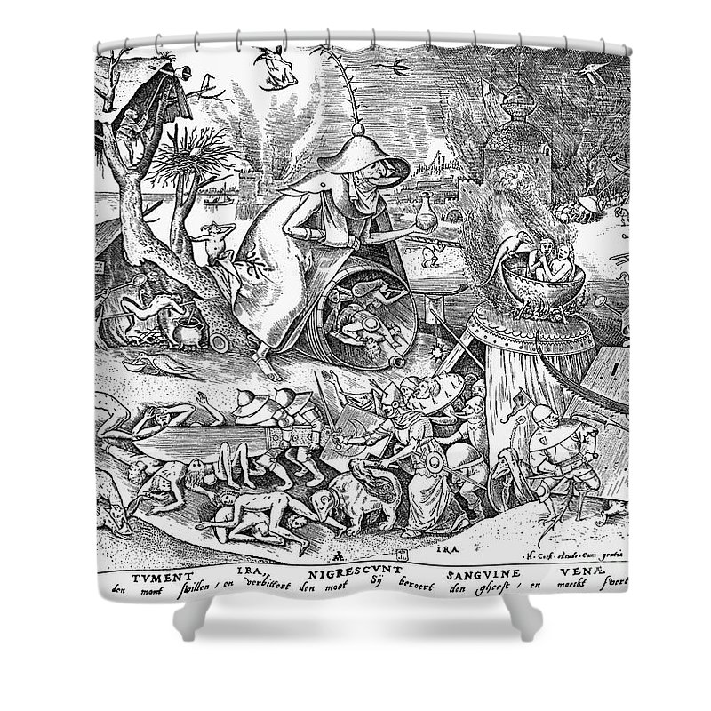 1557 Shower Curtain featuring the photograph Seven Deadly Sins: Anger by Granger
