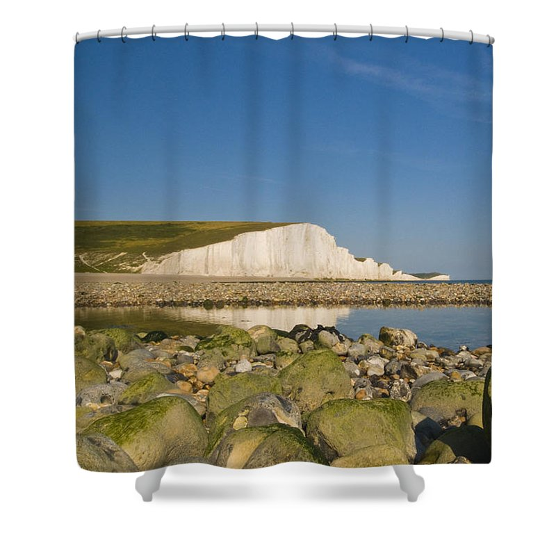 Sussex Shower Curtain featuring the photograph Seven Sisters Sussex by Chris Pickett