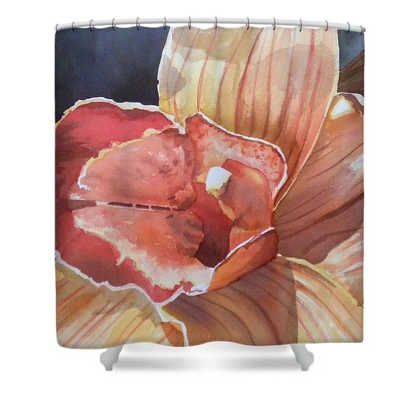 Flower Shower Curtain featuring the painting Sexy by Tatiana Escobar