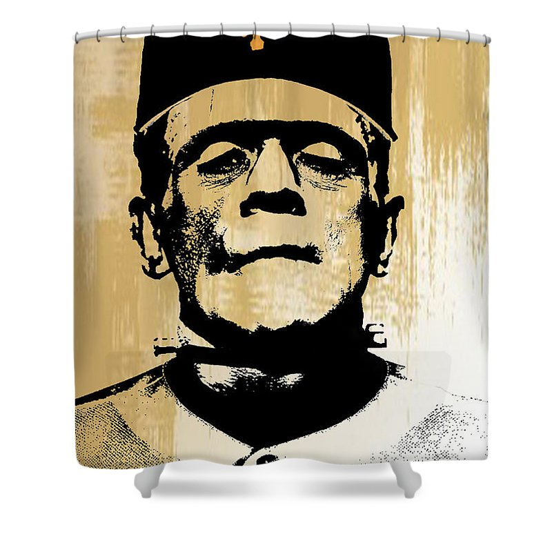 Frankenstein Shower Curtain Featuring The Digital Art Sf Monster By Create