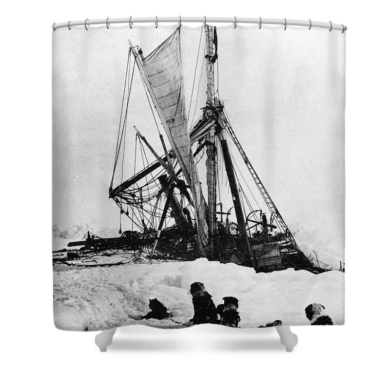 1915 Shower Curtain featuring the photograph Shackletons Endurance by Granger